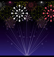 fireworks celebration scene background vector image