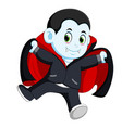 funny cartoon little vampire vector image vector image