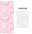 furniture line pattern concept vector image
