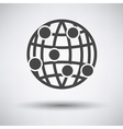 Globe connection point icon vector image vector image