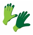 Gloves cartoon icon vector image vector image