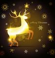 golden reindeer design vector image vector image