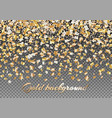 golden stars of confetti vector image