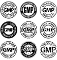 Good manufacturing practice stamp vector image vector image