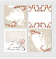 hand made abstract merry christmas greeting vector image vector image