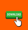 hand mouse cursor clicks the download button vector image