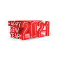 happy new 2021 year3d isolated vector image vector image