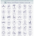 heavy and power industry outline icon set vector image vector image