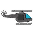 helicopter flying isolated icon vector image