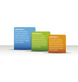 infographic 3 options template 3d vector image