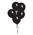 isolated balloons silhouette vector image vector image