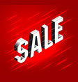 isometric lettering banner for black friday sale vector image