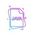 java file type icon design vector image