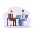 job interview hr manager office work vector image vector image