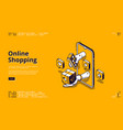 landing page online shopping vector image vector image