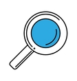 magnifying glass search isolated icon vector image