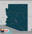 map of state arizona usa vector image