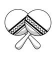 maracas instrument isolated icon vector image
