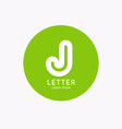 modern linear logo and sign letter j vector image