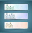 money bags banners set vector image vector image