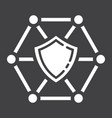 network protection glyph icon seo and development vector image vector image