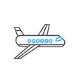 passenger airplane thin line stroke icon vector image