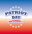 Patriot Day USA banner on red and blue background vector image