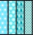 pattern stripes geometric blue vector image