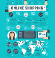 poster for online shopping vector image vector image
