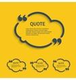 Quote line cloud set vector image