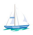 sailboat on water vector image vector image