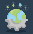 save the world and clean energy concept design vector image vector image