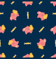seamless pattern with cute little elephants vector image vector image