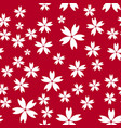 seamless simple pattern background with flowers vector image