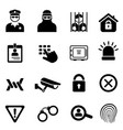 security and safety icon set vector image vector image
