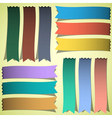 set bookmarks or ribbons vector image vector image