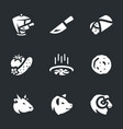 set of shawarma icons vector image vector image