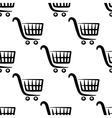 Shopping carts seamless pattern vector image vector image