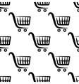 shopping carts seamless pattern vector image vector image