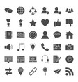 social media solid web icons vector image