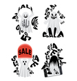 Spooky Sale Ghost vector image vector image