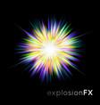 supernova explosion light vector image