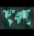 technology background world map and lines vector image