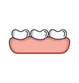 tooth care isolated icon vector image vector image