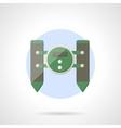 Toy catamaran flat color design icon vector image vector image