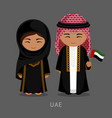 travel to united arab emirates vector image
