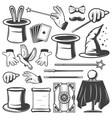 vintage magic elements collection vector image vector image