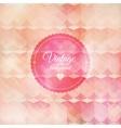 Vintage pink background vector image vector image