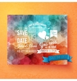 Wedding invitation template with Save The Date vector image