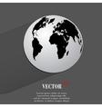 World map web icon flat design vector image